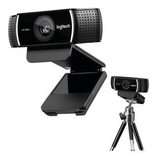 Camara Web Webcam Logitech Full Hd C922 Pro Stream + Tripode