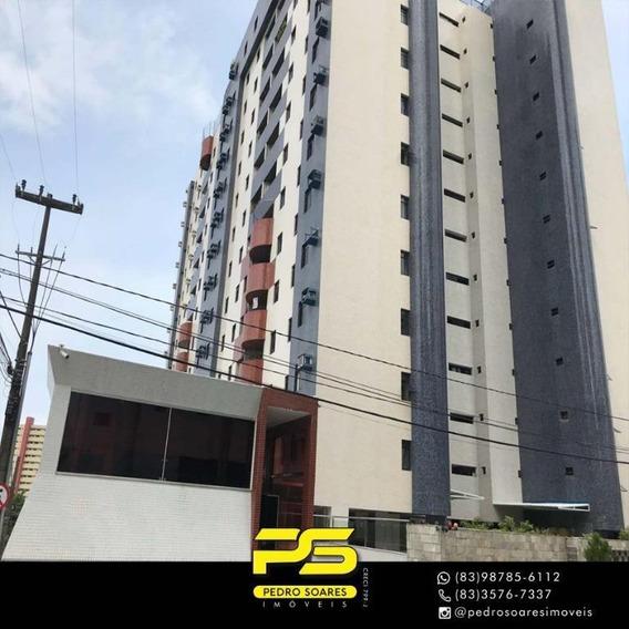 Apartamento Com 3 Dormitórios Para Alugar, 120 M² Por R$ 2.500/mês - Miramar - João Pessoa/pb - Ap3284