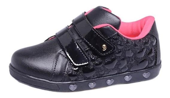 Sneaker Tênis Luz Pampili Preto Frete Livre 010628