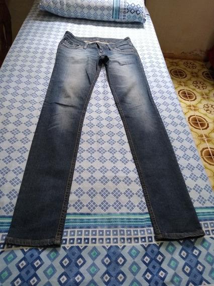 Calça Jeans Feminina Manchada