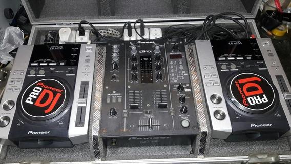 Kit Cdj 200 Pionner E Mixer Djm 400 Pionner Usados