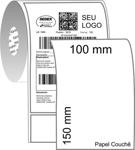 7 Bobina Etiquetas Couche 10x15 250un Para Mercado Envios