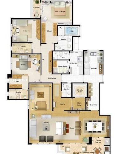 Apartamento Para Venda Em São Paulo, Pompeia, 3 Dormitórios, 3 Suítes, 5 Banheiros, 4 Vagas - 3065_2-1136280