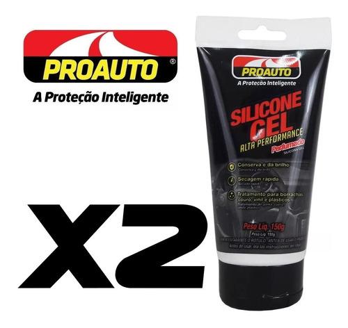 Imagem 1 de 6 de Silicone Em Gel Alta Performance Perfumado Proauto Kit 2 Und