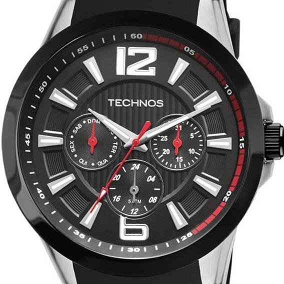 Relógio Technos Masculino Pulseira De Borracha Preto Esporte 6p29ahc/8p Original Com Caixa