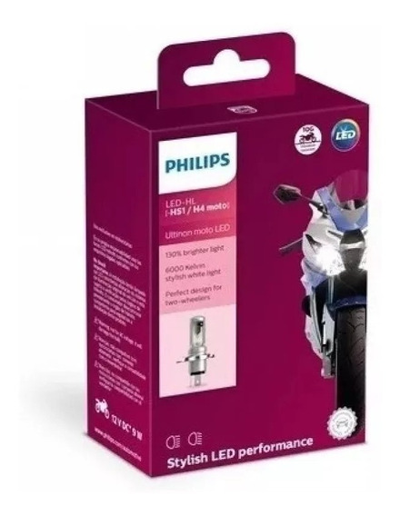 Lâmpada Led Ultinon Philips Para Moto Hs1 / H4 12v