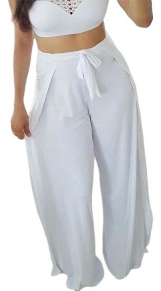 Calça Envelope Pantalona Feminina Transpassada + Brinde152