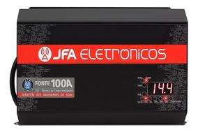 Carregador Bateria Som Carro Jfa 100a Slim Fonte Bivolt Auto