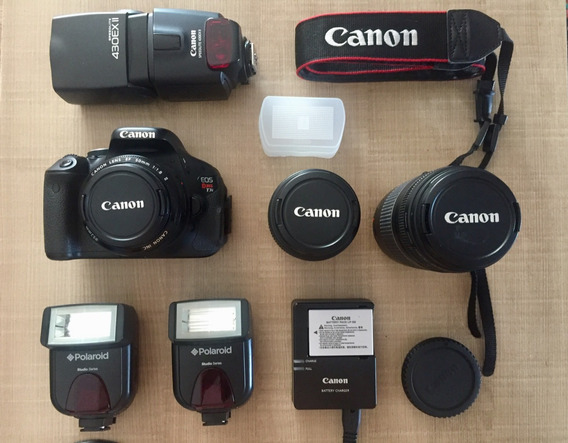 Canon Eos Rebel T3i - Kit Completo!
