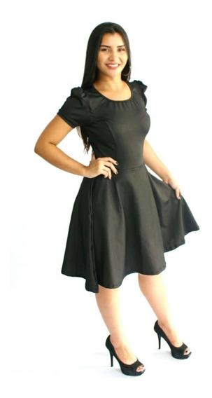 Kit 3 Vestido Feminino Princesa Rodado Gode Moda Evangelica