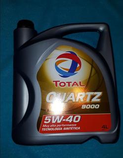 Aceite Total Quartz 9000 Sintetico 5w40 Por 4 Litros
