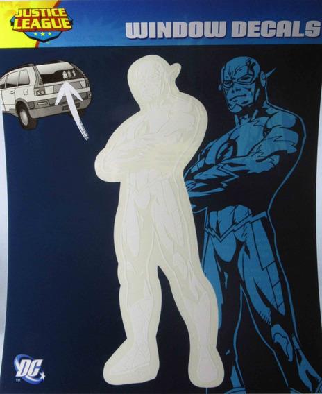 Adesivo P/ Vidro Carro Janela Flash Liga Da Justiça Novos 52