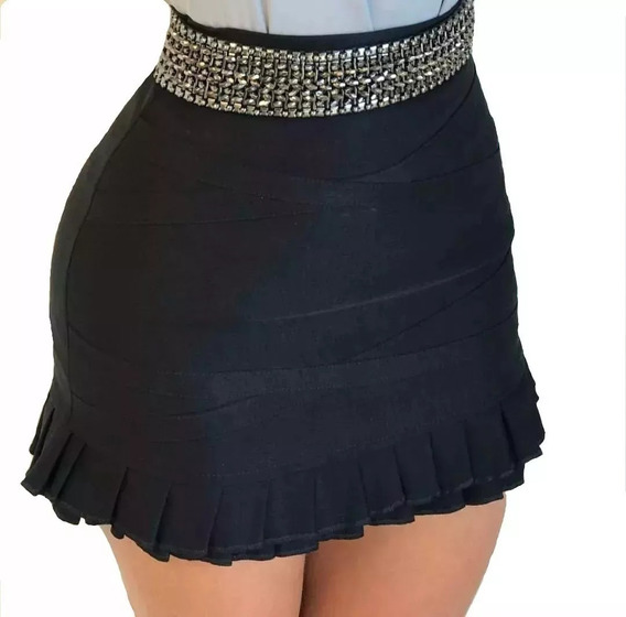 Novo Shorts Saia Feminino Tecido Bengaline