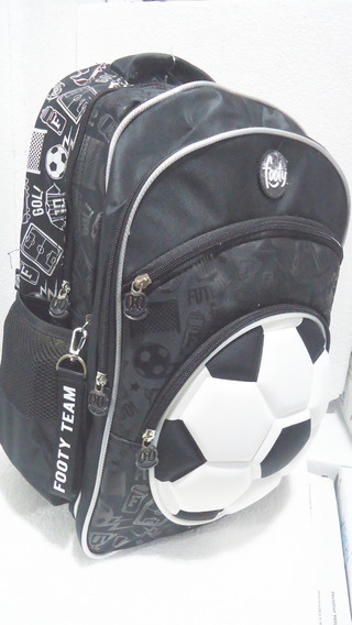 Mochila Footy 18 - Fútbol- Pelota 3d Con Luces Led