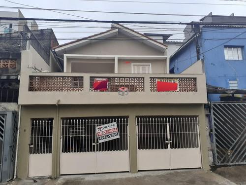 Imagem 1 de 25 de Casa Com Edícula À Venda, 2 Dormitórios, 2 Vagas - Jardim Do Estádio - Santo André  - 28263