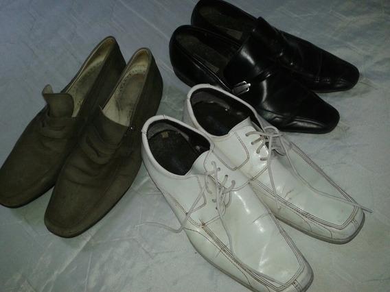 Sapatos Social Masculino Couro Tm 42 Branco Frete E Gratis