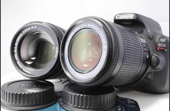 Câmera Cânon Rebel Sl1 Kiss Eos X7 100d Lentes 18-55/55-250