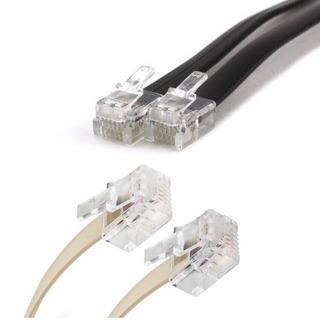 Cable Telefónico De 2 Metros Plug Rj11 | Teléfono Accesorios