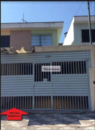 Sobrado Com 4 Dormitórios À Venda, - Vila Moraes - São Paulo/sp - So0492
