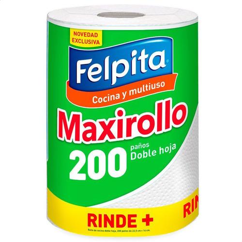 Imagen 1 de 5 de Rollo De Cocina Felpita Doble Hoja Maxirollo Rollo Multiuso