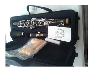 Clarinete Requinto Negro Eb Blessing 17 Llaves C/ Estuche