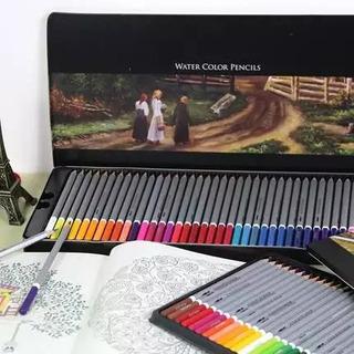 Lapices De Color 72 Piezas Colores Acuarelables Dibujo Deli