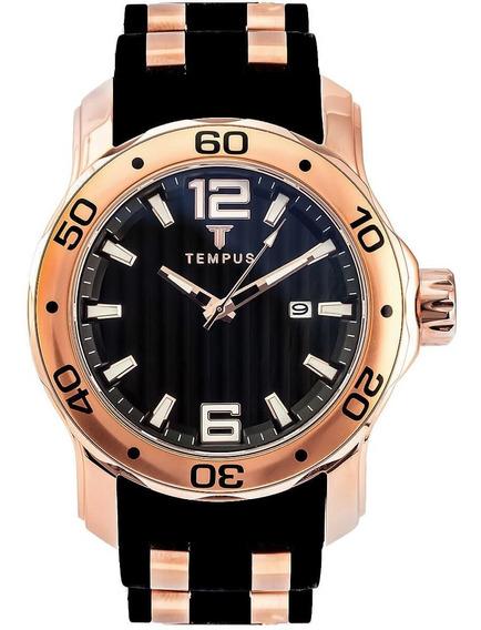 Relógio Masculino Tempus Rose Black