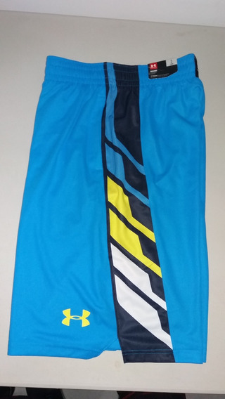 Pantaloneta Basketball Underarmour Azul-amarilla