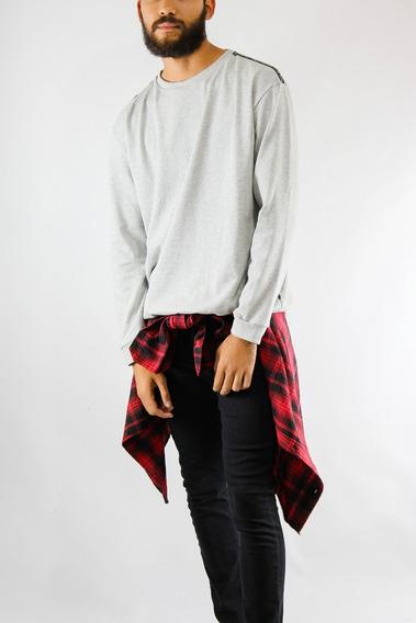 Sweater Synergy Básico Gris H301a