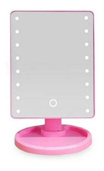 Espelho Camarim Quadrado Com Led Maquiagem Mesa