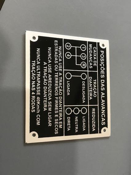 Placa/ Plaqueta Identificação 4m Preta Jeep Willys