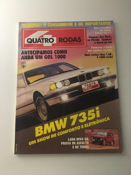 Quatro Rodas Nº366 - Janeiro 1991 - Bmw 735i Uno 1.6r F1000