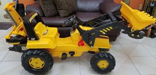 Juguete Retroexcavadora Tractor Ped De Juego Rolly Toys Cat