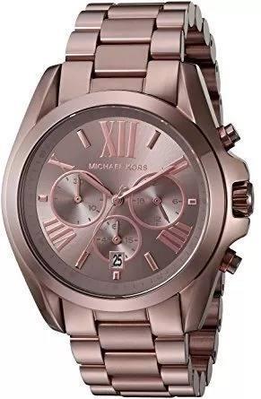 Relógio Xr055 Michael Kors Mk6247 Bradshaw Chocolate + Caixa