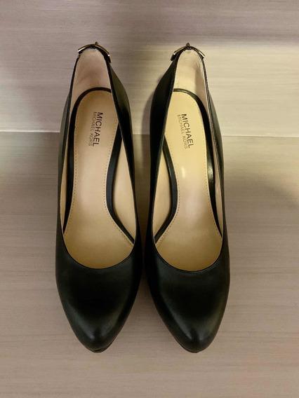 Zapatos Michael Kors Plataforma Piel Negro
