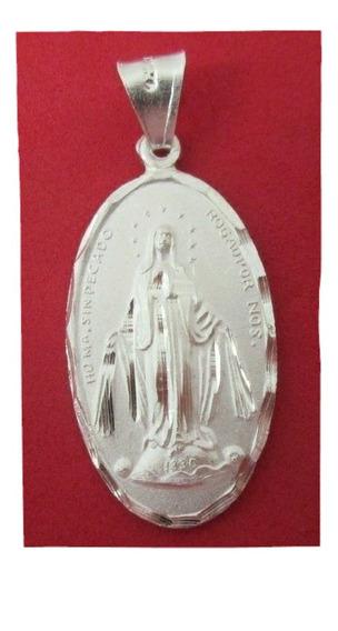 Medalla Virgen Milagrosa Plata Fina .925.