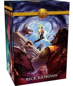 Box Percy Jackson Os Heróis Do Olimpo 5 Livros 12x Sem Juros