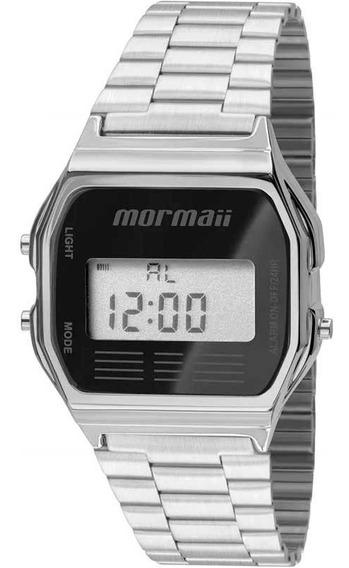 Relógio Mormaii Vintage Prata/preto (estilo Cásio)