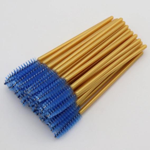 50 Escovas Para Cílios E Sobrancelhas Várias Cores