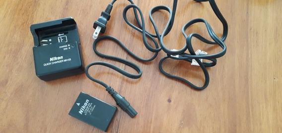 Carregador + Bateria Nikon Mh-23 Para Vários Modelos Nikon