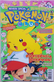 Revista Pokemon Club Numero 2 Hq Gibi Manga Pikachu Go Box
