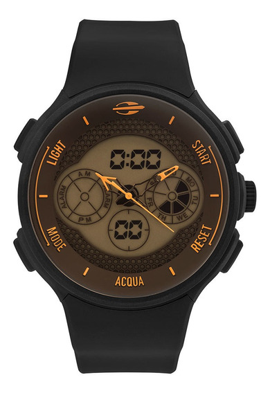 Relógio Anadigi Mormaii Action Preto Mo160829ae/8l