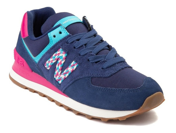 Tenis New Balance 574 Mod. 401734 Azul Marino Para Mujer / H