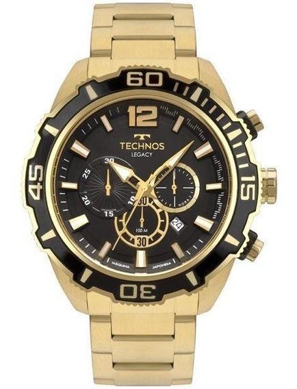 Relógio Technos Masculino Dourado Classic Legacy Js26aq/4p