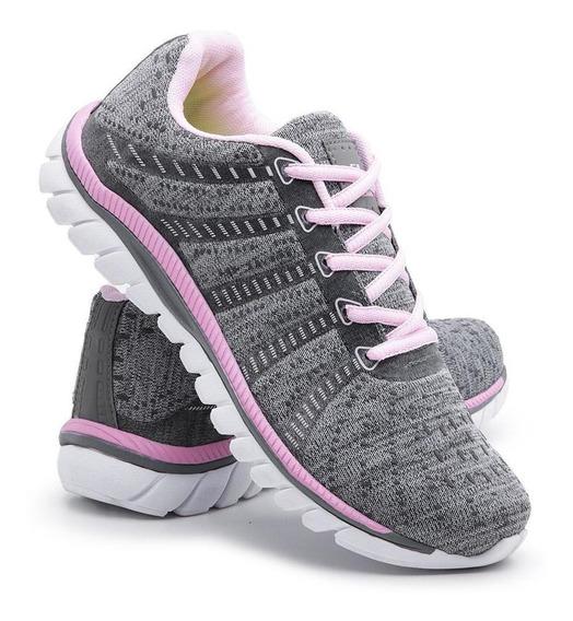 Tênis Sneaker Feminino Simon Vergan Caminhada Esportivo Leve