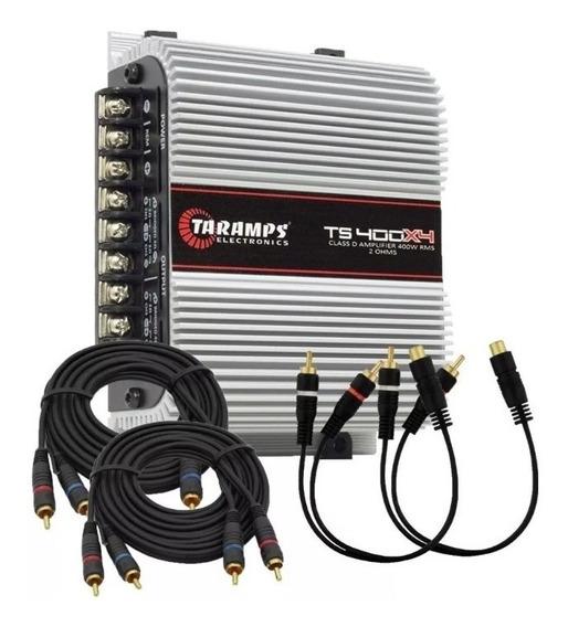 Módulo Taramps Ts400x4 400 Watts Rms 2 Ohms + Brinde