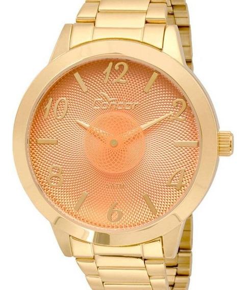 Relógio Condor Feminino Dourado Original Barato
