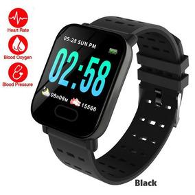Relógio Smart Inteligênte Batimento Pressão Fitness Luxo!