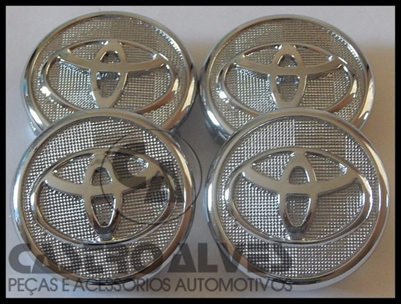 Kit 4 Pçs Calota Tampa Miolo Centro Roda Toyota Corolla 2015