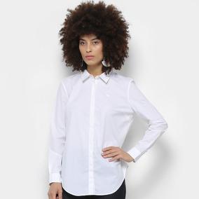 1d859f11687 Camisa Social Lacoste Feminina Slim Fit - Branca